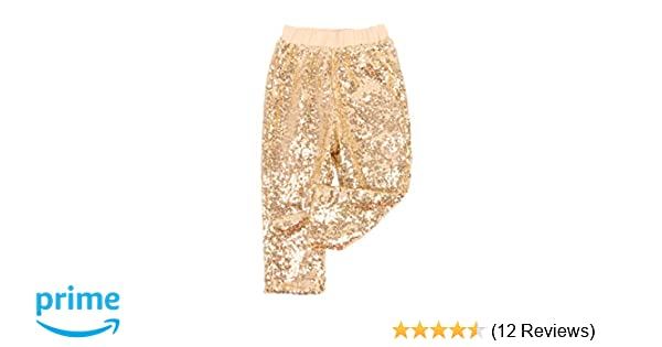 347a22845375 Amazon.com  Cilucu Leggings for Baby Girls Toddler Sequin Rainbow Pants  Kids Birthday Clothes Sparkle on Both Sides  Clothing
