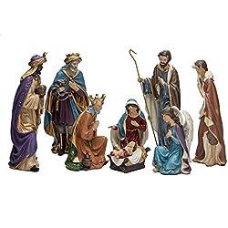 Kurt Adler Resin Nativity Figurine Set, 9-Inch, Set of 8