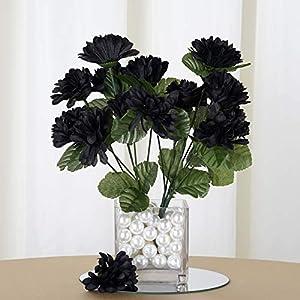 Efavormart 84 Artificial Chrysanthemum Mums Balls for DIY Wedding Bouquets Centerpieces Party Home Decoration Wholesale – Black