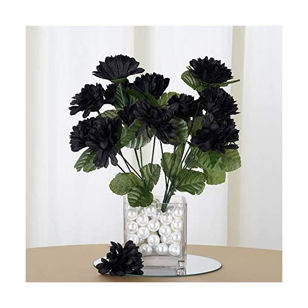 Efavormart 84 Artificial Chrysanthemum Mums Balls for DIY Wedding Bouquets Centerpieces Party Home Decoration Wholesale – Black