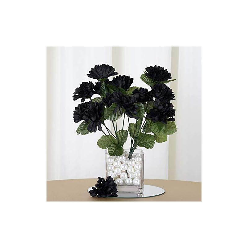 silk flower arrangements efavormart 84 artificial chrysanthemum mums balls for diy wedding bouquets centerpieces party home decoration wholesale - black