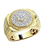 Men's Pinky Rings: 0.9ct 10k Rose,White or Yellow Gold Diamond Band 0.9ctw (Yellow Gold, Size 11)