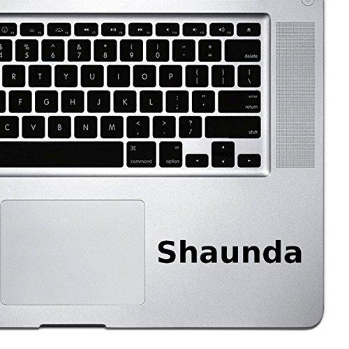 (2x) StickAny Palm Series Shaunda Sticker for Macbook Pro, Chromebook, and Laptops (Black)