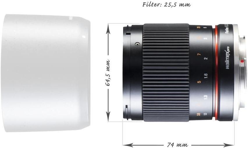 Walimex Pro 300mm 1 6 3 Objektiv Schwarz Für Sony Alpha Kamera