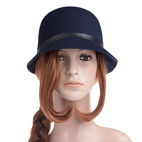 Vbiger Bowler Hat Fedora Derby Hats Vintage Cloche Hats Bucket Hats for Women