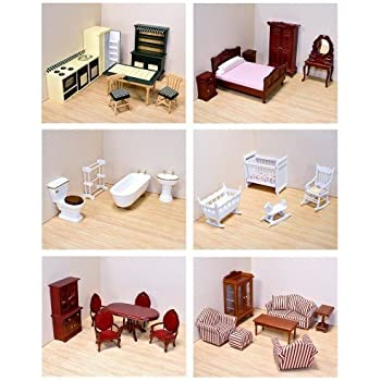 Melissa doug doll family and furniture sets toys games for Melissa and doug bedroom furniture