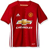 Adidas Soccer Manchester United Youth jersey, Large, Red/White