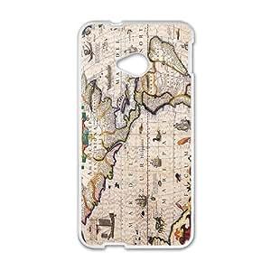 America Map White HTC M7 case