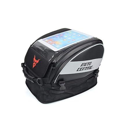 Alikena Bolsa impermeable para el tanque de la motocicleta Bolsa de almacenamiento de gran capacidad para la pantalla táctil Casco grande Motocross ...