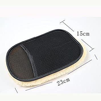 Easy Go Shopping Car Styling Wool Soft Gants de Nettoyage pour Voiture Brosse de Nettoyage Entretien de la laveuse de Moto 5 Paires (Color : Black, UnitCount : 5 Pair)
