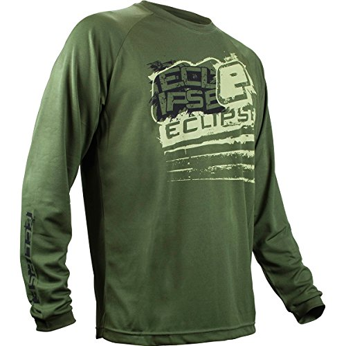 Planet Eclipse T-Shirt - Brawler Long Sleeve - Olive - Large (Brawlers Tee)