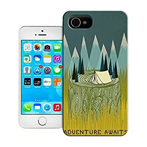 THYde Unique Phone Case Exquisite art pattern Adventure Awaits Hard Cover for iPhone 4/4s cases-buythecase ending