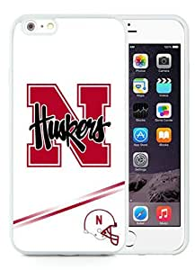 Unique And Durable Custom Designed Case For iPhone 6 Plus 5.5 Inch TPU With Ncaa Big Ten Conference Football Nebraska Cornhuskers 10 White Phone Case