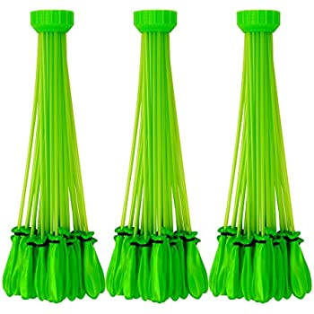 Bunch O Balloons Instant Water Balloons – Green (3 bunches – 100 Total Water Balloons)