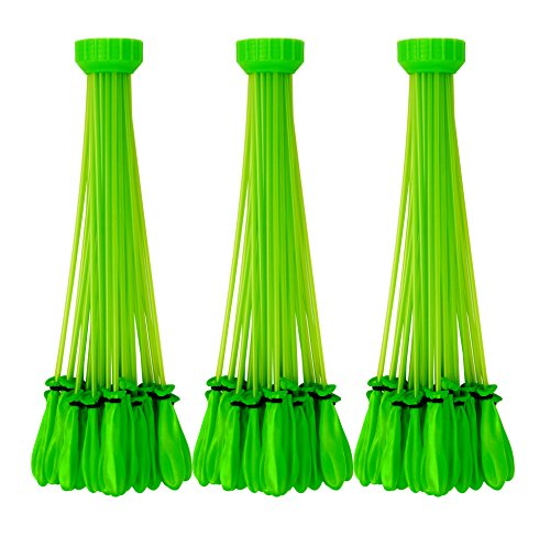 Bunch O Balloons - Instant Water Balloons -  Green (3 bunches - 100 Total Water Balloons) (Biodegradable Water Balloons)