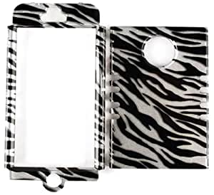 Cell Armor  Rocker Snap-On Case for iPhone 4/4S - Retail Packaging - Transparent Zebra