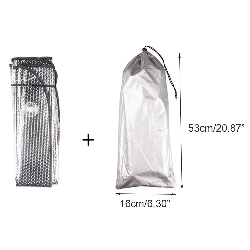 Reflector UV Plegable, protecci/ón Solar autom/ática para la Ventana Delantera, Mantiene el veh/ículo Fresco Parasol para Parabrisas Tesla Model 3 DEBBD