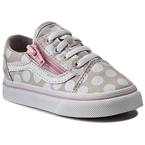 Vans Old Skool Zip VN0A38EFMMY (Polka Dot) Wind Chime Toddlers 4 ()