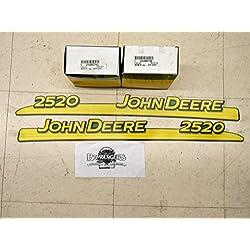 John Deere 2520 hood trim decal set for 2520 tract