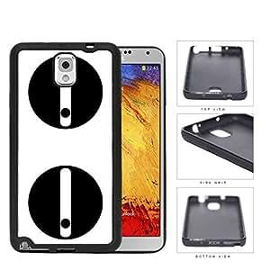 Sneaky Look Cartoon Panda Eyes Rubber Silicone TPU Cell Phone Case Samsung Galaxy Note 3 III N9000 N9002 N9005