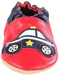 Robeez Soft Soles Police Car Slip On (Infant/Toddler),Red/Navy,18-24 Months (6.5-8 M US Toddler)