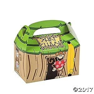 12 Tiki Hut Surf Shack Beach Monkey Treat Boxes