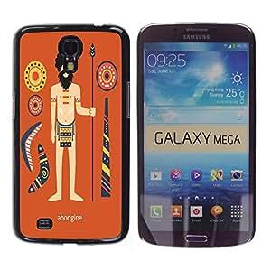 Dragon Case - FOR Samsung Galaxy Mega 6.3 - history of indigenous people - Caja protectora de pl??stico duro de la cubierta Dise?¡Ào Slim Fit