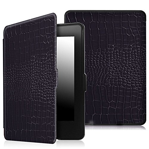 Fintie Case for Kindle Paperwhite, [Blade Series] Premium Protective PU Leather Cover Auto Wake/Sleep for All-New Amazon Kindle Paperwhite (Fits All 2012, 2013, 2015 and 2016 Versions), Crocodile Navy