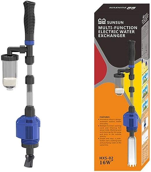 Aspirador de Agua eléctrico automático Aspiradores de Fondo Limpiador Limpieza Pez Bomba de Agua Depósito de Peces Dispositivo de Lavado de Arena: Amazon.es: Productos para mascotas