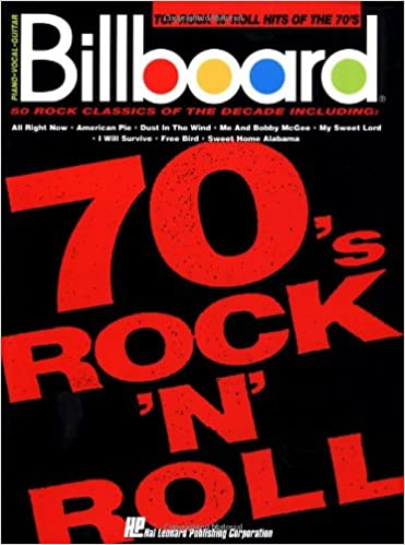 Amazon Billboard Top Rock N Roll Hits Of The 70s Piano