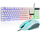Gaming LED Backlit Keyboard and Mouse Combo with