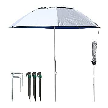 Sur Pioneer portátil sol playa paraguas, de fibra de carbono para barra de 360 °