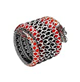 JOHN HARDY ST.SILVER NAGA LAVA AUTUMN COLOR WAY ENAMEL 5-ROW BRACELET