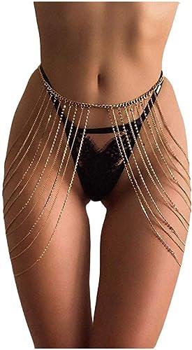 Women/'s Body Jewelry Crystal Rhinestone Leg Thigh Chain Harness Summer Jewelry