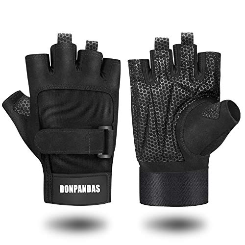 Gloves Premium Cycling (Donpandas Gym Gloves, Workout Gloves for Powerlifting, Weight Training, Biking, Cycling - Premium Quality Microfiber Breathable Material Training Exercise Gloves,Suits Men & Women (L))
