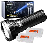 Fenix TK75 2018 5100 Lumen High-Performance Long-Throw Micro-USB Rechargeable Flashlight with 2x Lumen Tactical Battery Organizers