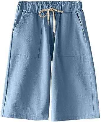 Ropa Deportiva Yying Pantalones Cortos Para Mujer Moda Color Solido Casual Anchos Cintura Elastica Bermuda Cortos Deporte Shorts Talla Grande S 5xl Deportes Y Aire Libre Magmamedia Si