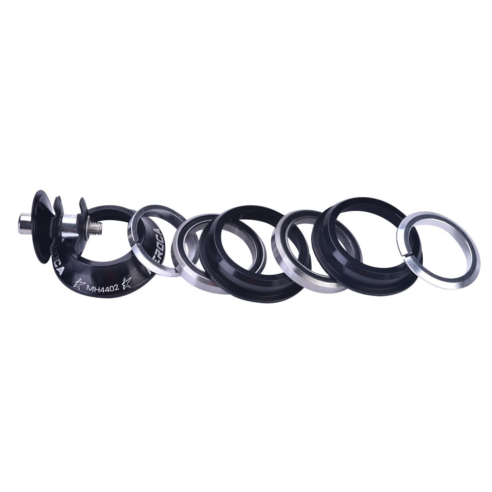 Bicicleta de Aleaci/ón de Aluminio Frente Tenedor Stem Headset Reemplazo Bicicleta Accesorio para Mountain Bike Dioche Auriculares de Bicicleta
