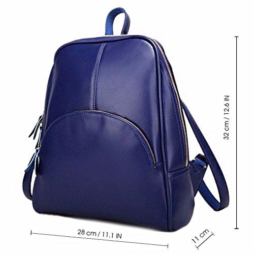 azul sintética de Mujer Gxinyanlong Azul Mochila para Piel Rvna14