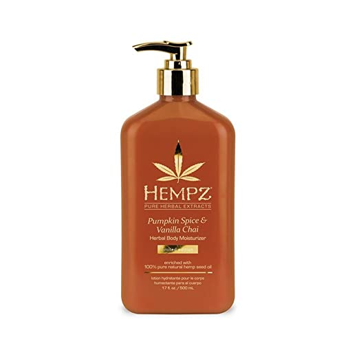 Hempz Pumpkin Spice & Vanilla Chai Herbal Body Moisturizer 17 oz.
