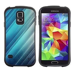Suave TPU GEL Carcasa Funda Silicona Blando Estuche Caso de protección (para) Samsung Galaxy S5 / CECELL Phone case / / Reflection Light Blue Stripes Lines /