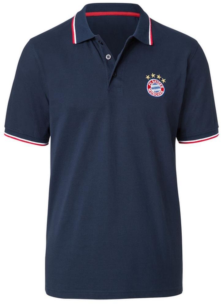 FC Bayern de Múnich - Polo con escudo, color azul Talla:S: Amazon ...