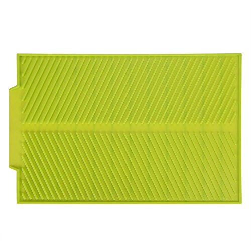 Drain Mat - Delaman Rectangle Silicone Drying Dishes Pad, Heat Resistant, No-slip Tray, for Countertop Protection, Oven, Table, Placemat (Color : ()