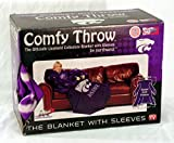 NCAA Kansas State Wildcats Comfy Throw Blanket with Sleeves, Smoke Design