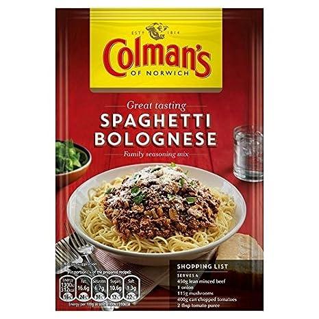 Colman S Spaghetti Alla Bolognese Ricetta Mix 44g Confezione Da 2