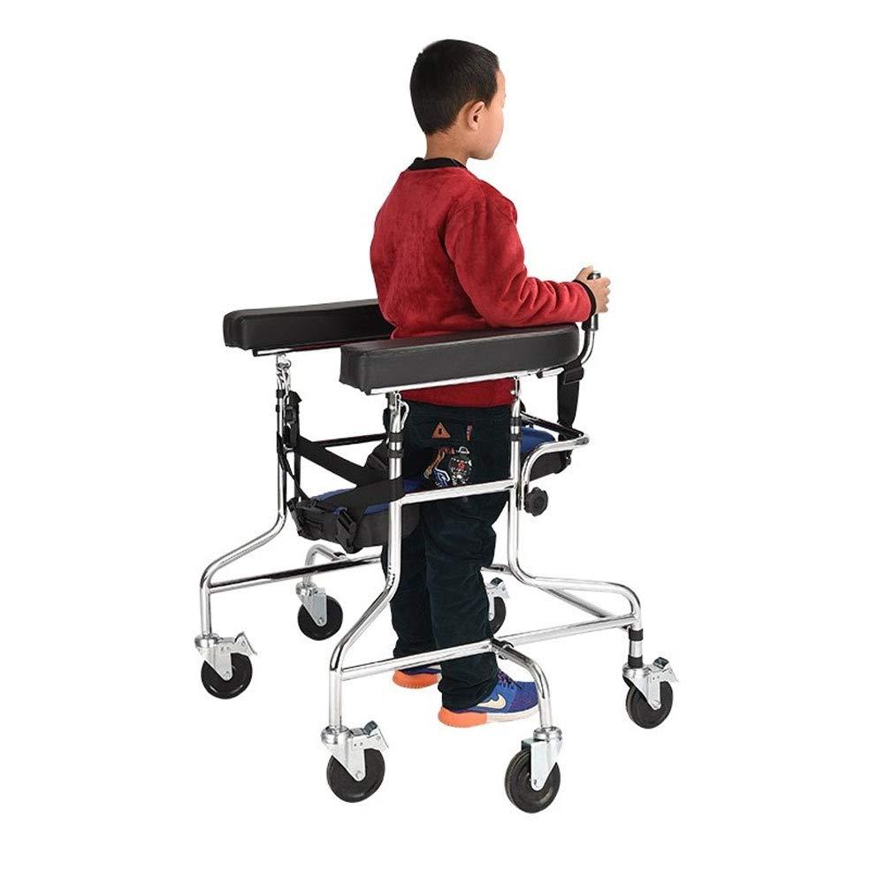 Standard Walker U-Type Walker Height Adjustable for Cerebral Palsy Children Rehabilitation Exercise Disabled, Foldable Rehabilitation Walker by JLVNA