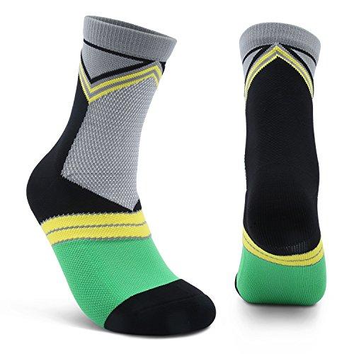 1824ad2a0 AIKER Athletic Socks for Men Cushion Performance Crew Socks Best for Running  Soccer Nurses Flight Travel