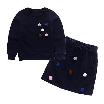 11241f7e4 Amazon.com: Winter Kids Clothes Set Baby Girls Pullover Sweatshirt ...