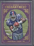 2012 Topps David Wilson Giants Rookie Enchantment Rookie Football Card #RE-DW