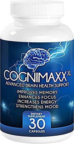#1 natural cerebro impulsar suplemento con la hierba Ginkgo Biloba y de San Juan. Cognimaxx Xl apoya mejorar el enfoque y la función de memoria